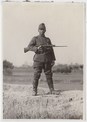 p14 WWⅡ Japanese army Photo soldier with bayonet in China battlefield
