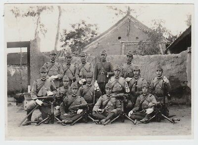p22 WWⅡ Japanese army Armed platoon soldiers photo in China battlefield