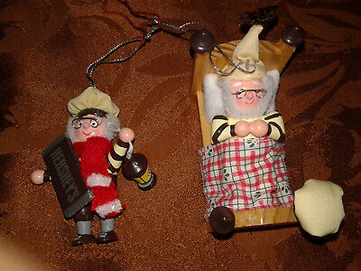 Hershey 1997 Collector Christmas tree Ornaments  set of 2