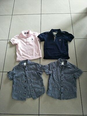 Boys Clothes Size 4 Bundle  s/s Shirts Polo,  Burberry & Target Great for twins