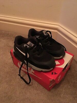 watch 08254 f86fe Nike Air Max Infant Size 6.5 Black