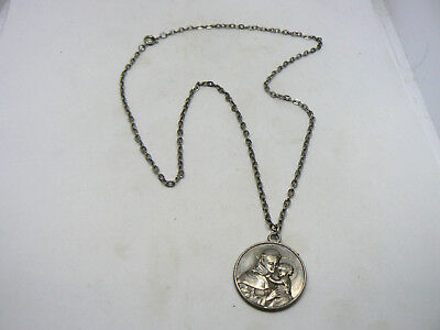 "St. Anthony 1"" Round 3Rd Class Relic Medal On A 10"" Chain"