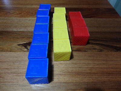 15 Collectable Tuppertware Building Blocks. No tgreen toys.