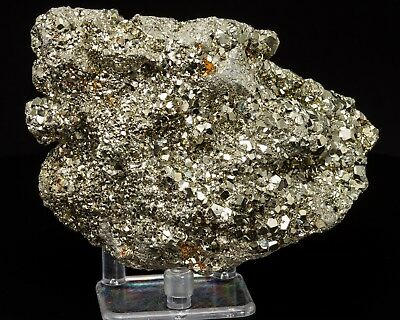 B0808 2.46lbs Large AAA Shiny Coco Pyrite Cube Crystals Cluster Fools Gold Peru