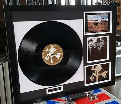 U2 The Joshua Tree Vinyl Album-Ltd Edt-Plaque-Certificate-Bono-Luxury Box Framed