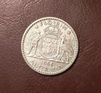 1956 Florin Australian Coin Great Condition Unchecked C15