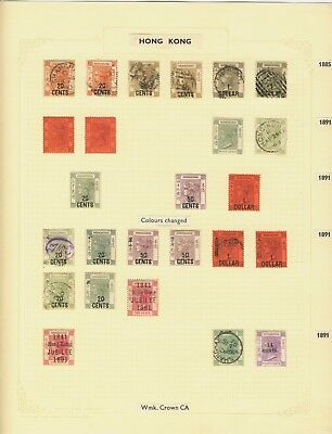 Hong Kong 1862-1901 Powerful Old-Time Qv Collection On Pages Very High Cat $$$$$