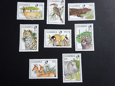 Gambia 1988 Wildlife Sc 719-726 Complete Mint Never Hinged