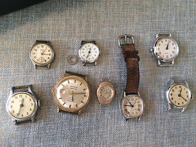 Vintage Antique small watch faces parts restoration, collectable, crafts