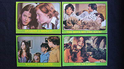 Vintage 1972 Scanlens The Partridge Family Green cards – 4 cards – Lot 1