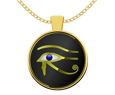 Esoteric necklace - Egypt Eye of Horus God symbol - Wedjat occult gift mythology