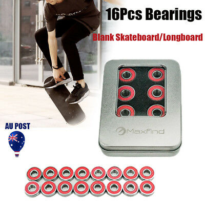 16x Pro Longboard Bearings Premium Skateboard Scooter Bearing 608 RS ABEC 9 AU