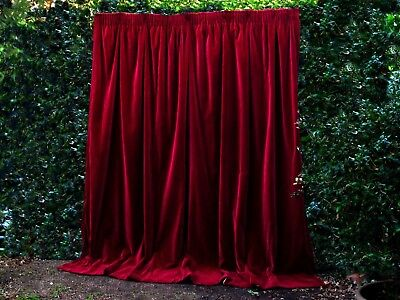 Paris Apt. Soft Genuine Vintage Velvet Curtains Uv Studio Theatre Portierre #1