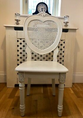 Antique French style Bergere Shabby Chic Wooden Cream Chair