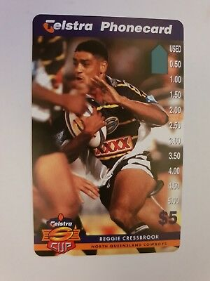 $5 Mint Phonecard Super League Reggie Cressbrook