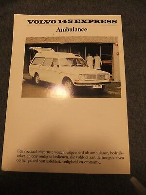 Brochure ++ Prospekt ++ Volvo 145 Express Ambulance ++ 5-70 ++ NL ++ Original