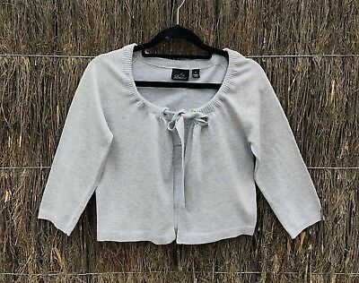 Ripe Ladies Maternity Sz S Silver Tie Front Cardigan In Excellent Condition.