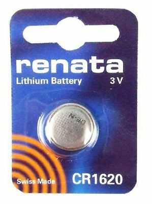 Renata CR1620 Lithium Watch Key Gadget Battery 3v Blister Packed - Pack of 10