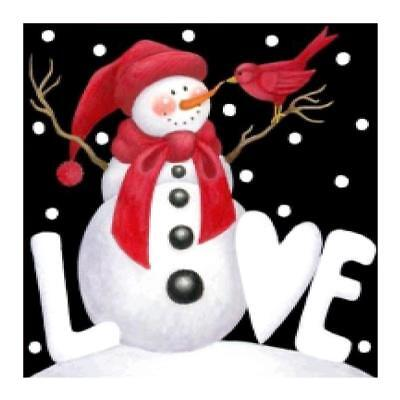 5D DIY Full Drill Diamond Painting Christmas Snowman Cross Stitch Embroider A#S