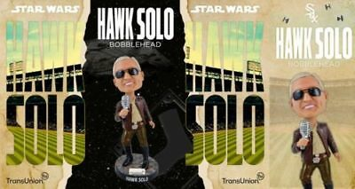 Hawk Solo Bobblehead Chicago White Sox Promotion 5-19-18 Star Wars
