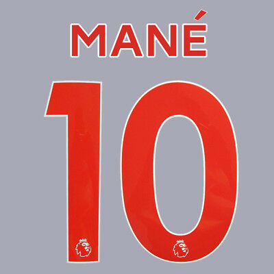 Mane 10 18/19 Premier League Liverpool Away Red Name & Number Set = Adults