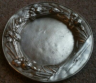 Rare Japanese Meiji Chinese Oriental Solid Silver Dish Stamped Plate Bowl