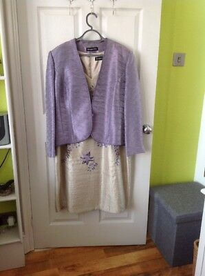 Jaques Vert Size 20 /22 Dress And Jacket Stunning