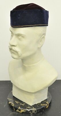 Colonial Songkok Velvet Hat - Wahid & Co - H.M. Forces Malay/Singapore -c.1940's