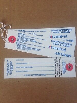 Carnival Air Lines Baggage ID Tags