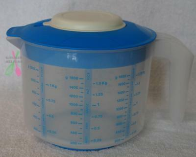 Tupperware Bake 2 Basics EZ 2Ltr Mix N Pour Measuring Mixing Jug - Blue- New