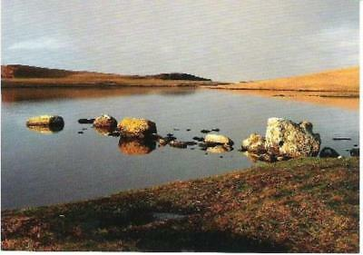 Eshaness Loch, Shetland - winter reflections - local postcard