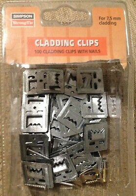 cladding clips boxed new with nails used and brass screws