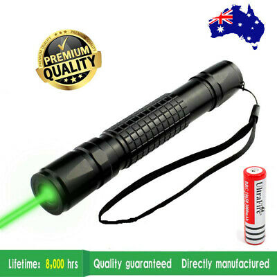 Military Powerful 900 Green Laser Pointer Pen + 18650 Battery AU STOCK