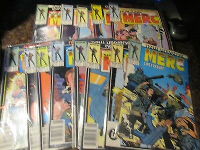 Marvel New Universe Mark Hazzard: Merc Full Set Entire Series Run 1-12 Annual 1
