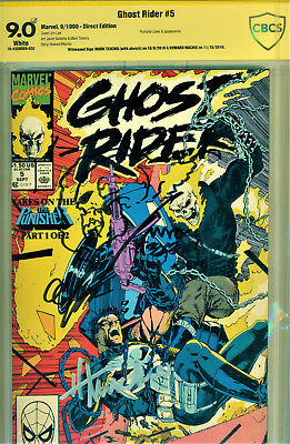 Ghost Rider #5 Cbcs 9.0 2X Signed By Howard Mackie & Signed/sketch Mark Texeira!