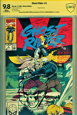 Ghost Rider #3 Cbcs 9.8 Signed By Howard Mackie & Signed/sketch Mark Texeira!