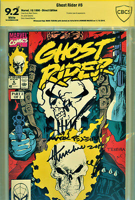 Ghost Rider #6 Cbcs 9.2 2X Signed By Howard Mackie & Signed/sketch Mark Texeira!