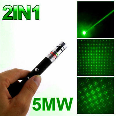 Military Powerful 2 in 1 Laser Pointer Pen - Green / Red / Purple