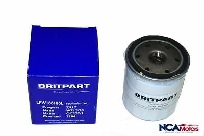 Land Rover Freelander 1 Petrol 1.8L Oil Filter - LPW100180L Britpart