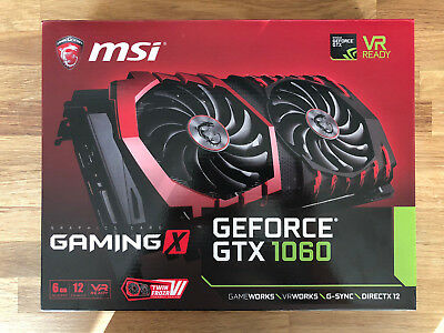 MSI Geforce GTX 1060 Gaming X 6G Grafikkarte