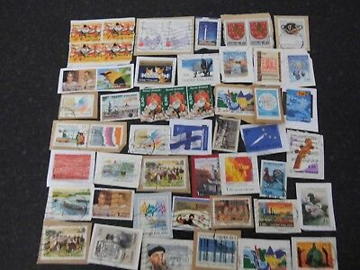 Collection LOT 50 FINLAND SUOMI USED stamps  ON PAPER - see all photos