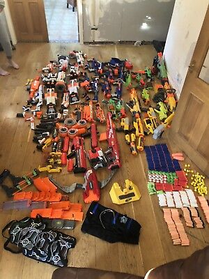 MASSIVE Huge Nerf Job Lot Bundle Guns Clips Ammo Vests Christmas Birthday