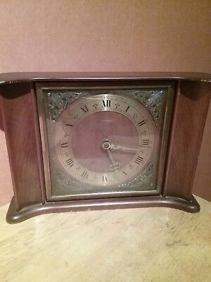 Smiths Eight Day Floting Balance Clock Full Working Order