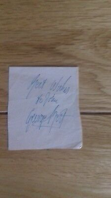 GENUINE GEORGE BEST signed AUTOGRAPH Manchester United
