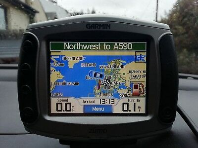 Garmin Zumo 400 car and motorcycle sat nav and RAM mount with sucker cup