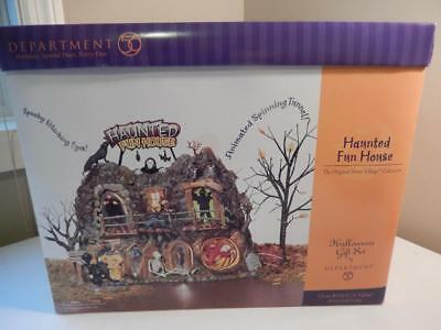 Department 56 (NEW) Haunted Fun House Gift Set #56.55094 Animated & Scary Lights