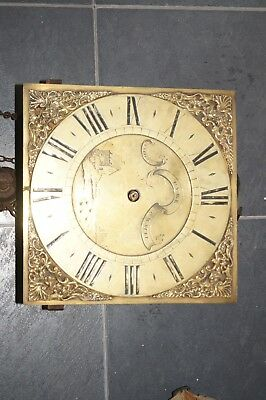 vintage pyke grandfarther tall clock face and movement