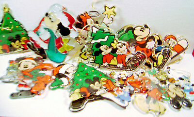 MICKEY MINNIE MOUSE  DONALD  PLUTO  Christmas Ornaments Lot of 15