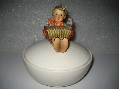 """Vintage Hummel Goebel TMK-3 """"Let's Sing"""" Rounded Candy w/Lid W. Germany REPAIRED"""