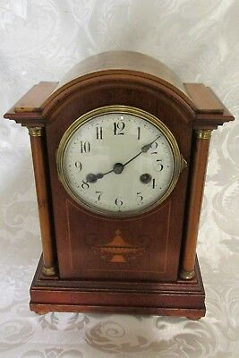 Handsome Early Edwardian French 8 Day 2 Train Bracket / Mantel Clock Japy Freres